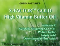 X-Factor Gold High-Vitamin Butter Oil, 8 oz.