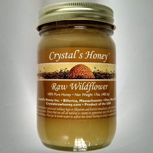 Crystal's All Natural Raw Honey, Glass Jar, 17 oz