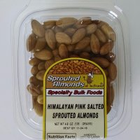 Longhurst Farms Sprouted Raw Almonds with Himalayan Pink Salt, 4.8 oz